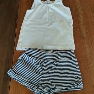Cute toddler girls summer outfit